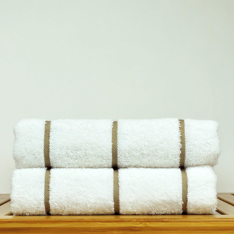 Amazon com luxury hotel towel turkish cotton pool beach towel set coffee brown set of 2 home kitchen