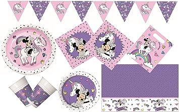 0d3738781e8c0 Procos 10133062 Set de fête pour Anniversaire d'enfant Motif Minnie Mouse  et Unicorne Multicolore