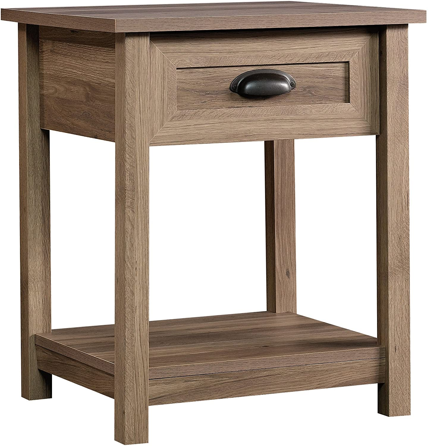 Side Table/Night Stand, Salt Oak Finish