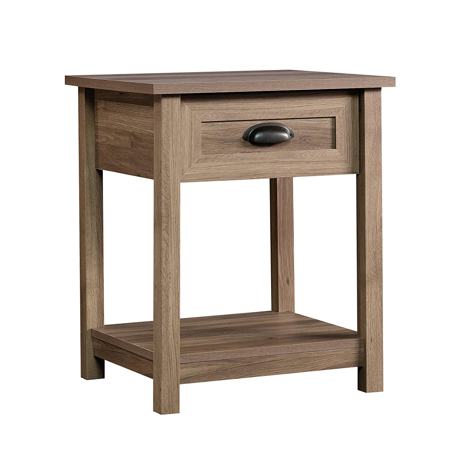 Sauder 417771 County Line Side Table/Night Stand, L: 19.84