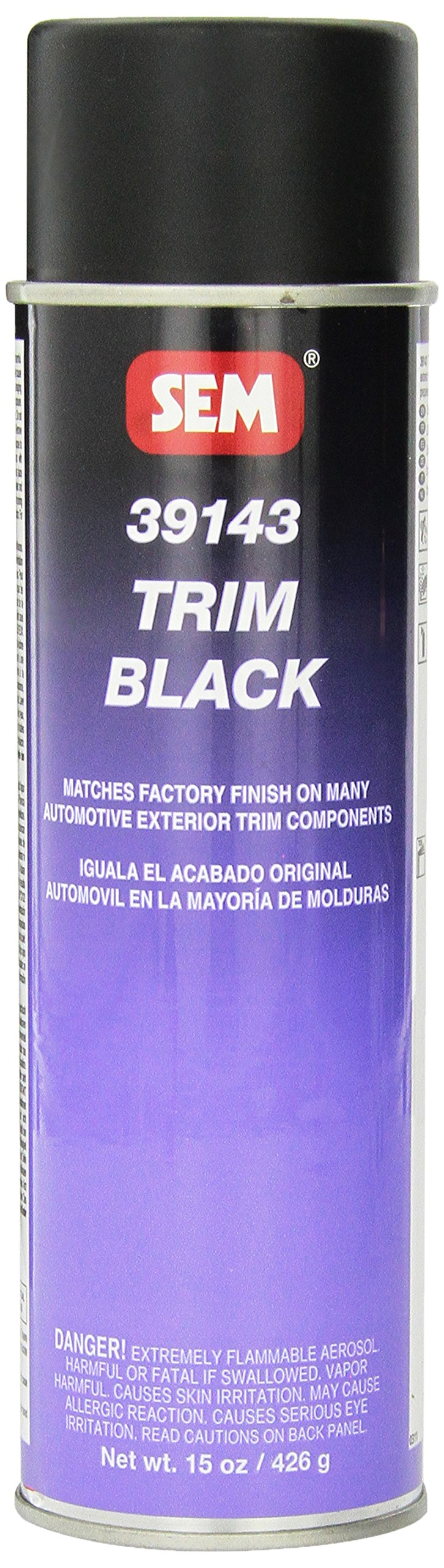 SEM 39143 Trim Black Aerosol - 15 oz.