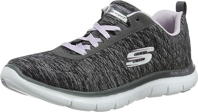 Skechers Flex Appeal 2.0 Sneakers Damen Schwarz/Lavendel