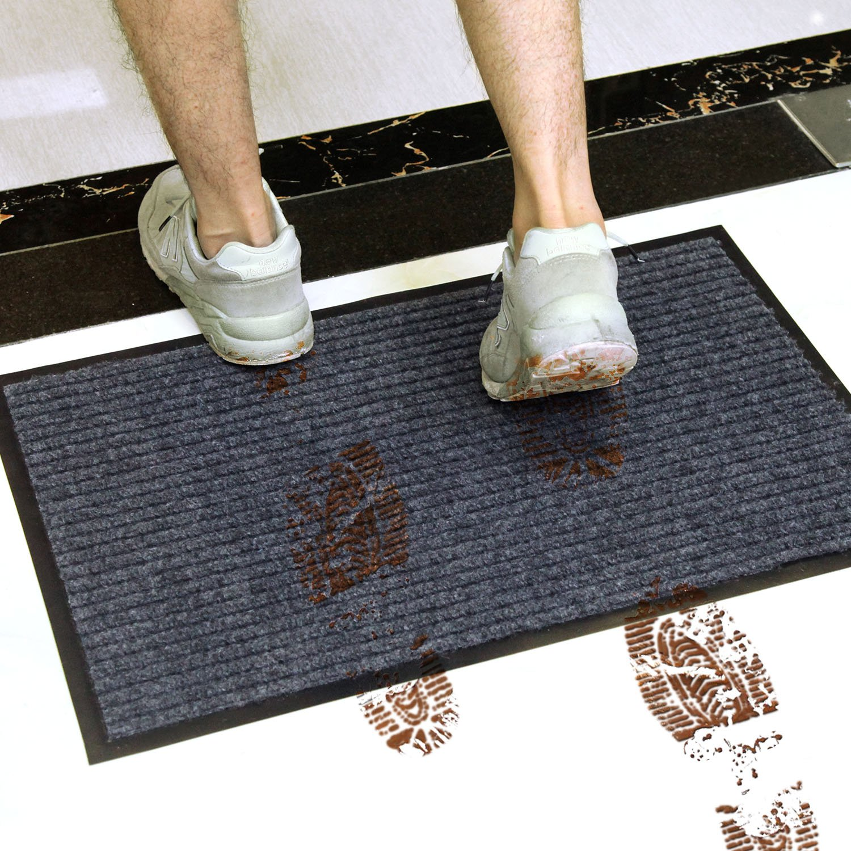 Vdomus Door Mat Shoe Scrapper Rubber Backing Doormat Indoor Outdoor Entry Way Rug for High Traffic Areas Door Mat