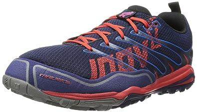 Inov-8 Men's Trailroc 255 Running Shoe,Navy/Blue/Red,9.5