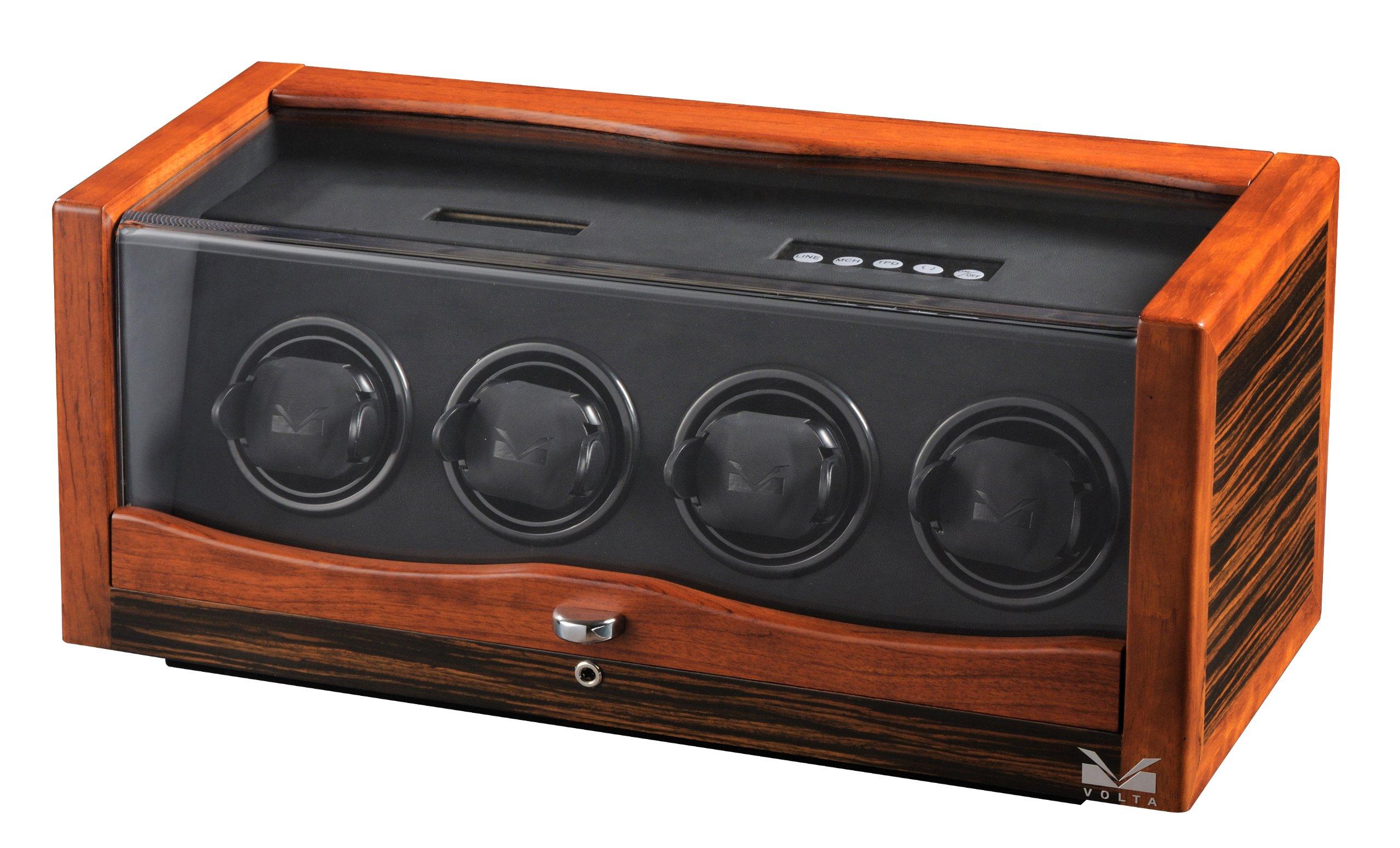 Volta 31-560042 Rustic Rosewood and Ebony Wood Watch Winder