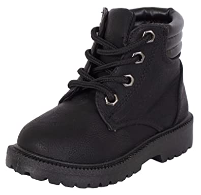 c79157ee2 Amazon.com | Rugged Bear Boys Lace Up Work Boot (Toddler, Little Kid ...