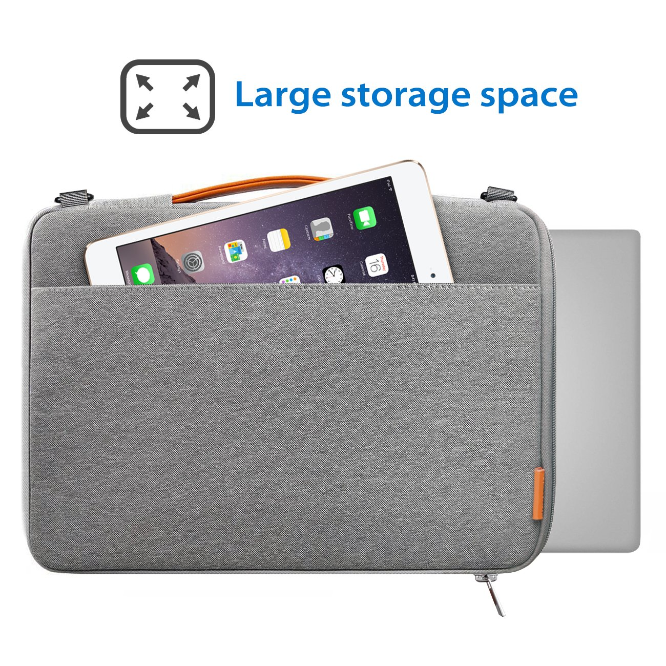 Inateck Bolso Bandolera para Ordenador Portátil de 15-15,6 Pulgadas, Laptop Sleeve Resistente a los Derrames para Portátil,Notebook, Ultrabook de 15 ...