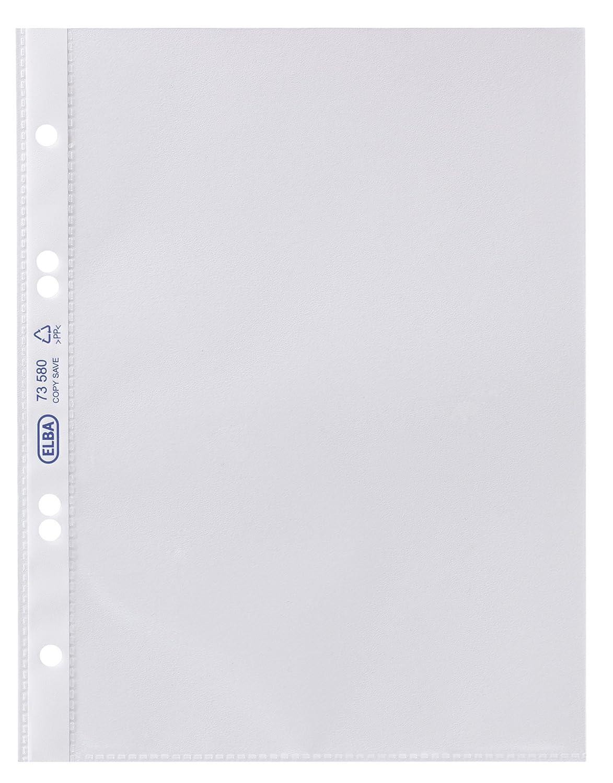 Elba 100460992 - Custodie Premium, formato A4, in PP 0,12 mm (anabbagliante, per protocollo, apertura in alto a sinistra), zigrinato, confezione in cartone da 100 pezzi Hamelin Brands