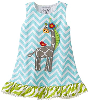 e23d2e4553c2 Amazon.com  Mud Pie Baby-Girls Safari Giraffe Racerback Dress  Infant And  Toddler Dresses  Clothing