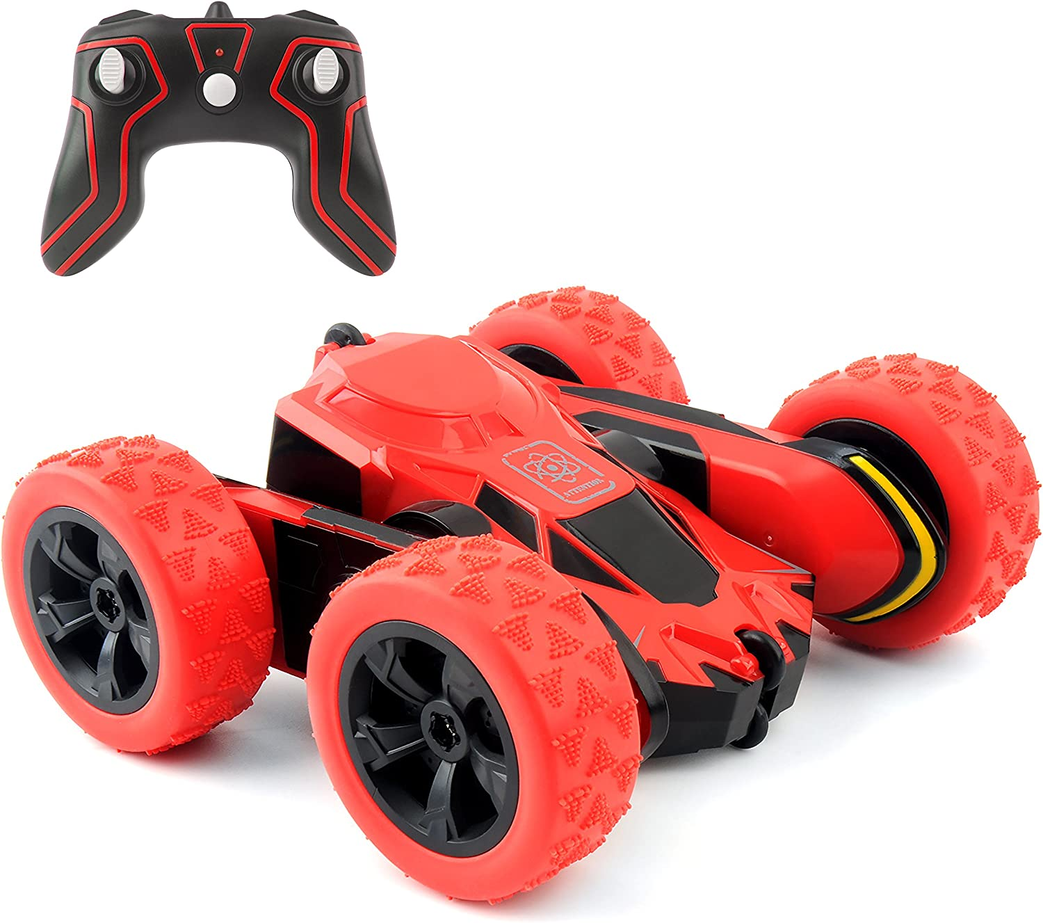 Rimila Remote Control Car Electric 4WD RC Stunt Car Off Road Vehicle 2.4Ghz Racing Cars 7.5Mph 360°Rotating Kids Toy Cars Brithday Gift (Battery Not Included) 81Wv-DyfozL