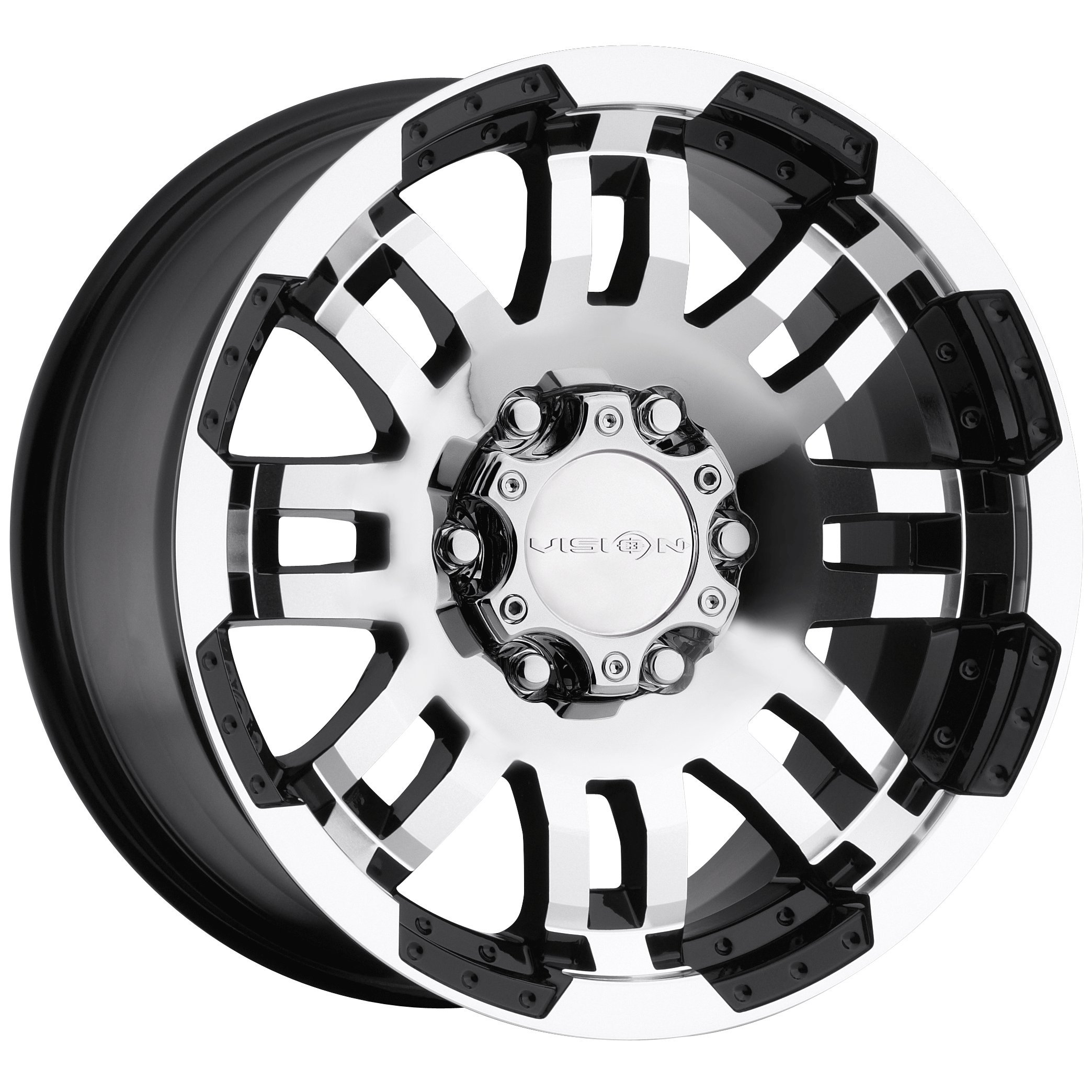 Vision Warrior 375 Gloss Black Machined Face Wheel (17x8.5''/5x139.7mm)