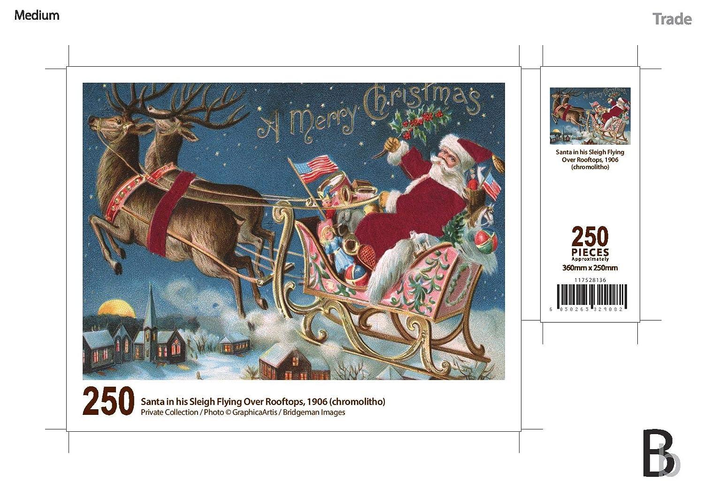 【格安saleスタート】 Santa in his his sleigh flying over rooftops sleigh 250ピース木製パズル B07G66WZLN B07G66WZLN, ワインハウス DAIKEN:5359e193 --- a0267596.xsph.ru