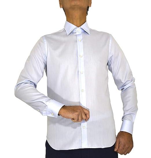 E. MECCI Camisa de Hombre Made in Italy, 100% algodón, No Iron ...