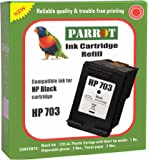 Parrot Refill for HP 703 Black Ink Cartridge