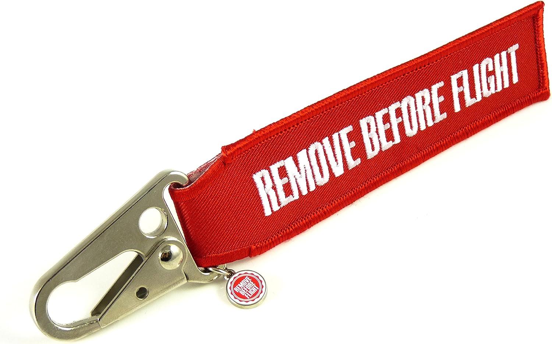Schlüsselanhänger Remove Before Flight Flugzeug Karabiner Koffer Rucksäcke Taschen