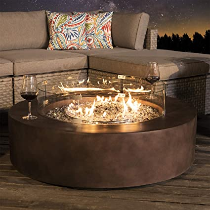 Incredible Cosiest Outdoor Propane Fire Pit Coffee Table W Dark Bronze 42 Inch Round Base Patio Heater 50 000 Btu Stainless Steel Burner Wind Guard Free Lava Unemploymentrelief Wooden Chair Designs For Living Room Unemploymentrelieforg