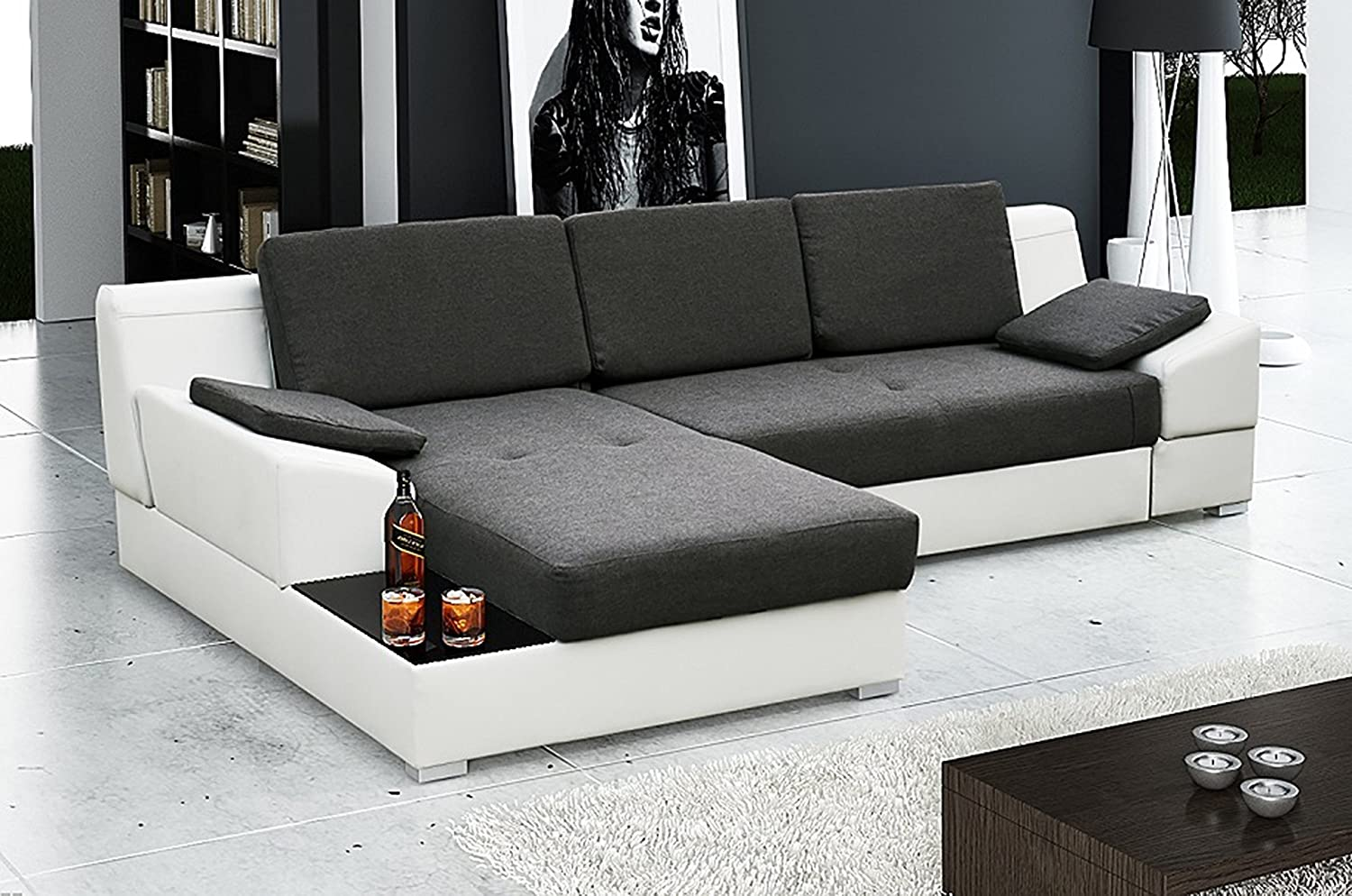 Ye Perfect Choice MARTIN Corner Sofa Bed Modern Design ...