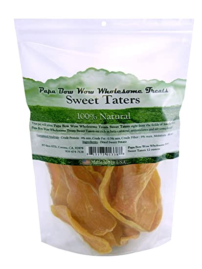 Amazon.com: Papa Bow Wow Usa Sourced Sweet Potato Dog Treat, 12 Oz: Pet Supplies