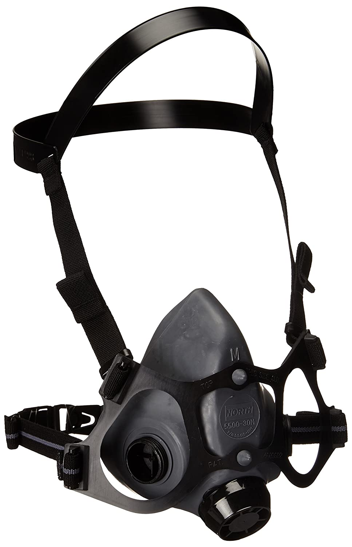 Honeywell 550030M 5500 Series Low Maintenance Half Mask Respirator, 1/2 Mask Air Purify, Medium (Pack of 12) by Honeywell B00UAU871E