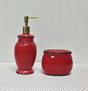 Ruffle Soap Dispenser and Sponge Holder Set