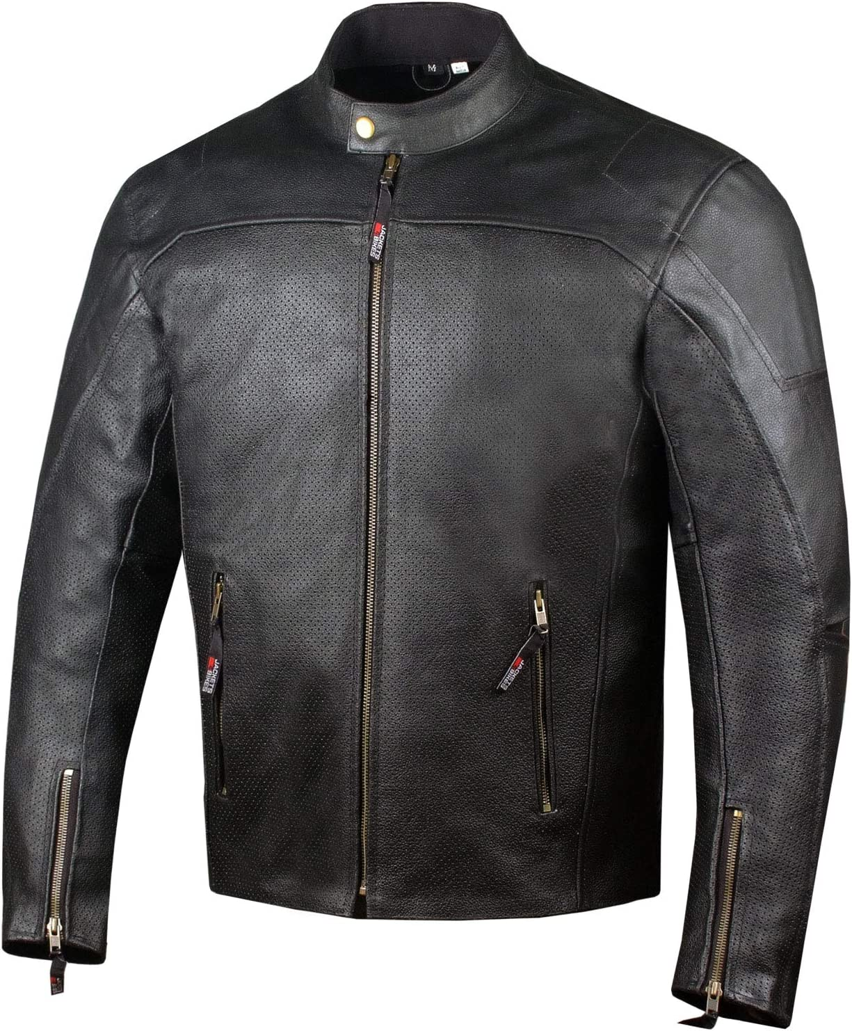 Mens Airflow Perforated Leather Protected Motorcycle CE Armor Biker Jacket XXL