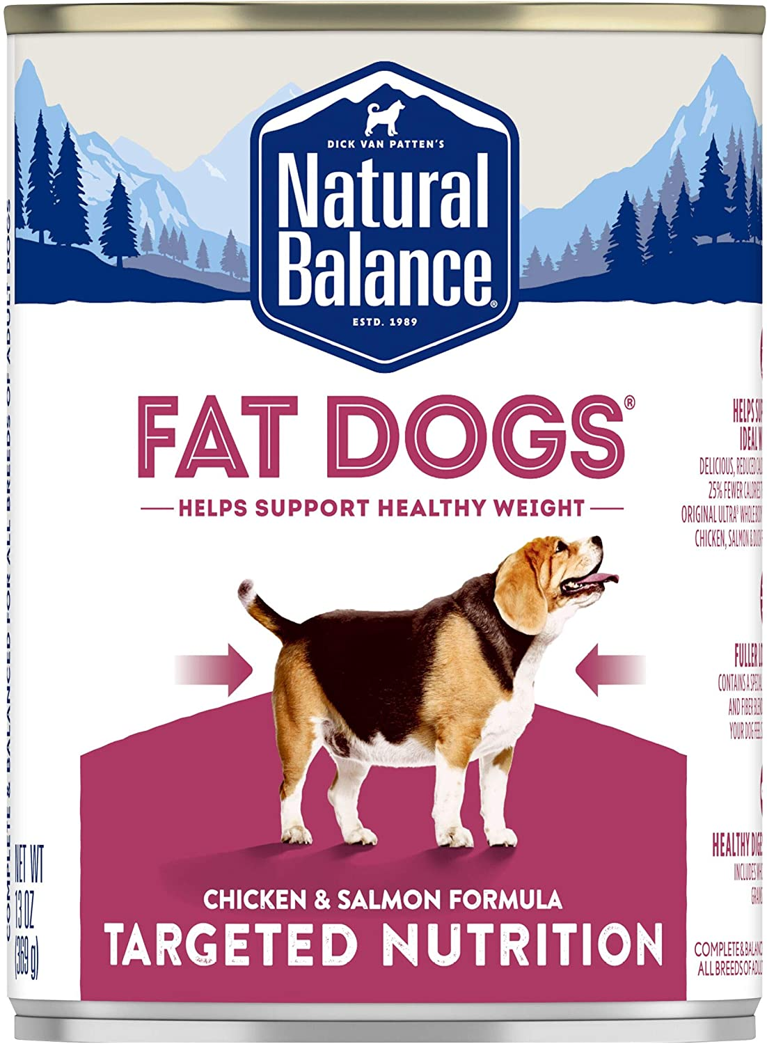 Natural Balance Targeted Nutrition Wet Dog Food, 13 Ounce (Pack of 12)