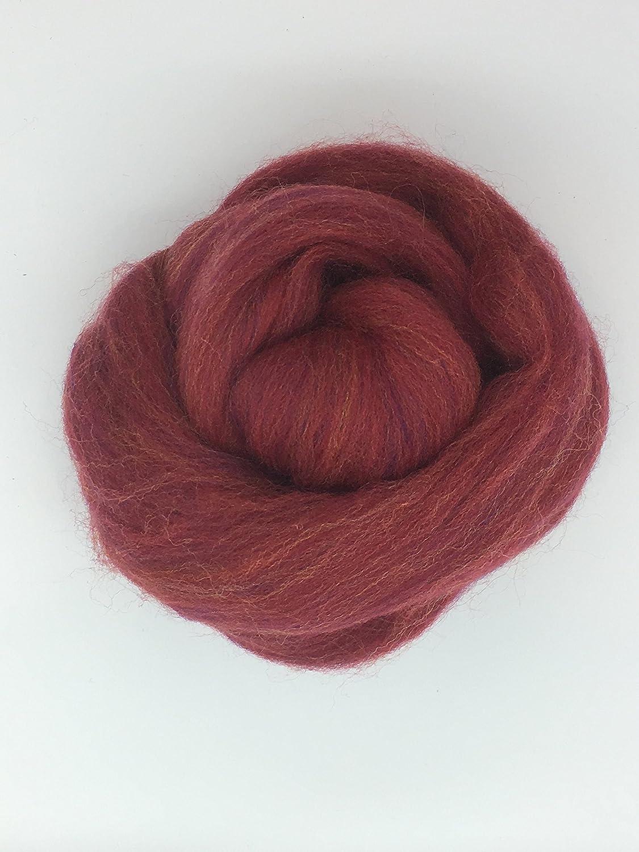 Persian Red Wool Top Roving Fiber Spinning 1oz Felting Crafts USA