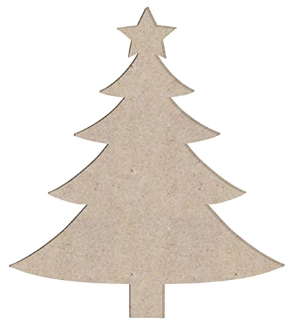 Christmas Tree Cut Out.Amazon Com 12 Christmas Tree Unfinished Wood Cutout Sizes