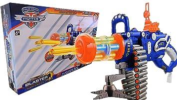 Allkindathings Toy Nerf Style Bullets Gatling Gun Rechargeable