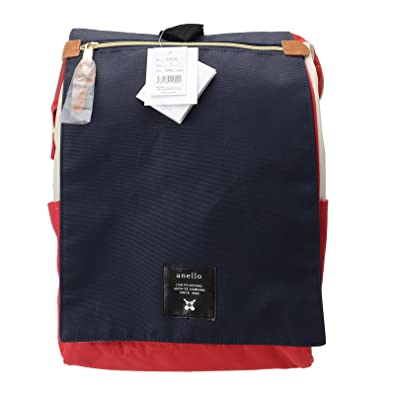 4809c61dc Anello Official Flap Cover Red White Blue Japan Fashion Shoulder Rucksack  Backpack Large AT-B1224