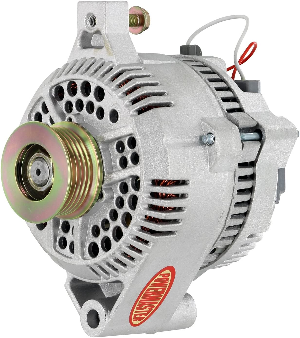 [XOTG_4463]  Amazon.com: Powermaster Performance 477491 Alternator Ford 3G Small Frame  Straight 155 Amp 95 Idle 6 Groove and 1V Pulley One Wire Natural Alternator:  Automotive | Ford Powermaster Alternators Wiring |  | Amazon.com