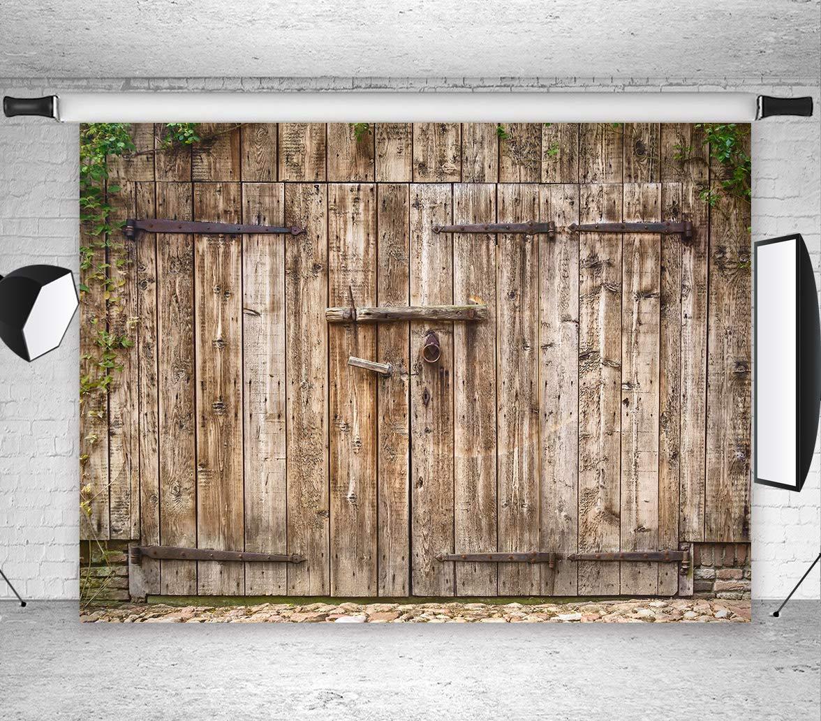 Amazon Lb Rustic Barn Door Photography Backdrops 9x6ft Vinyl