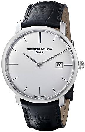 amazon com frederique constant men s fc306s4s6 slim line slim frederique constant men s fc306s4s6 slim line slim line mens silver dial automatic watch