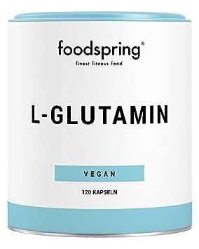 foodspring L-glutamina, 120 cápsulas, Especialista de la regeneración: Amazon.es: Salud y cuidado personal