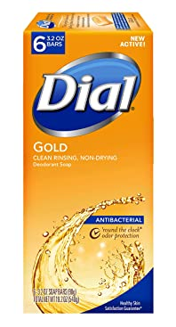 Dial Antibacterial Bar Soap, Gold, 3.2 Ounce, 72 Bars