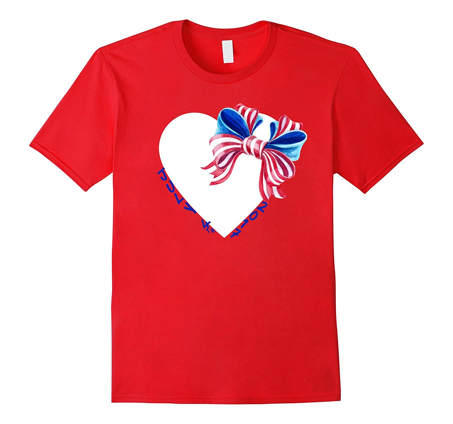 4th of July American Flag Bow Patriotic T-Shirt 2017-PL