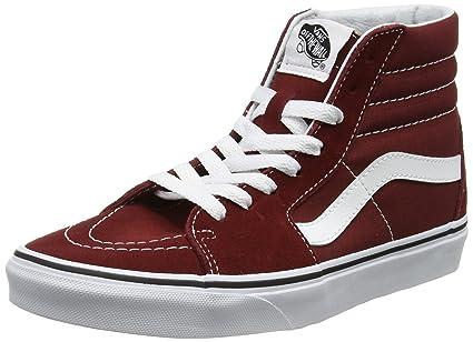 7babab9387 Vans Unisex Sk8-Hi Reissue Madder Brown True White Skate Shoe 10.5 Men US