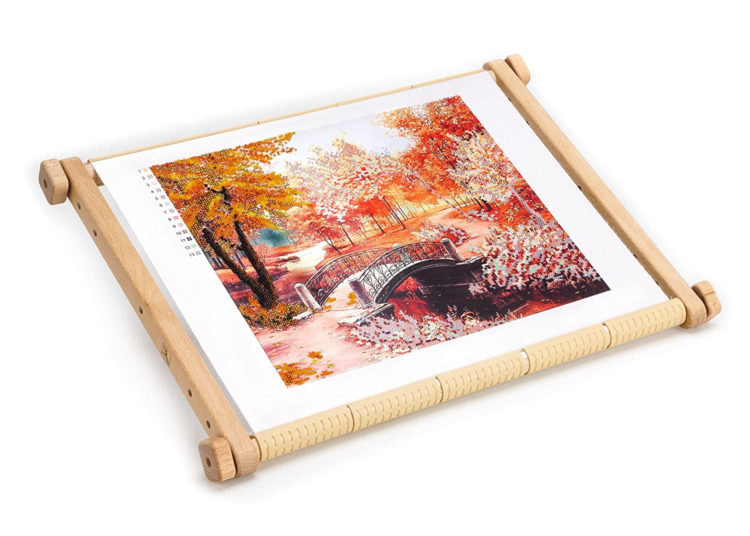 Needlepoint Embroidery Tapestry Scroll Frame Made of Organic Beech, Wooden Cross Stitch Frame, Needlepoint Holder, Stitching Frame (9.8 х 12.5 in) Arabeska