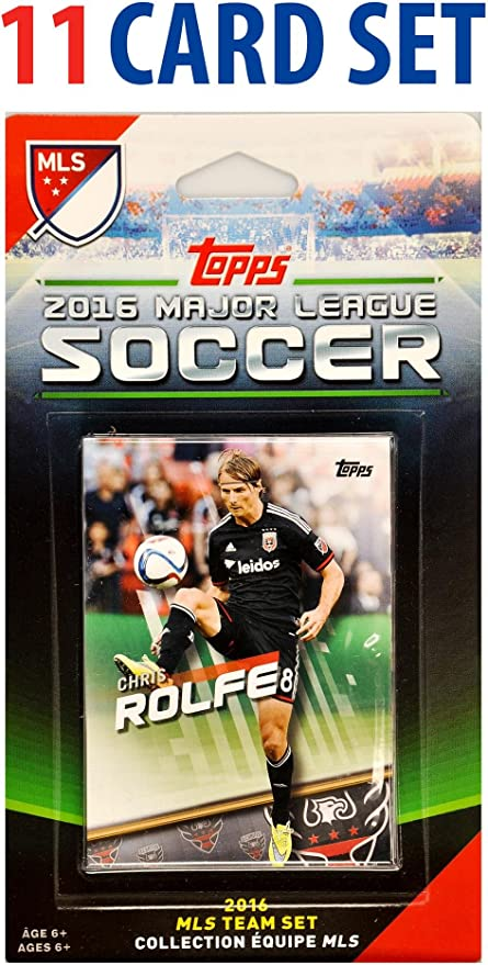 2016 Topps MLS D.C. United 11 Card Team Set - Unsigned Soccer Cards