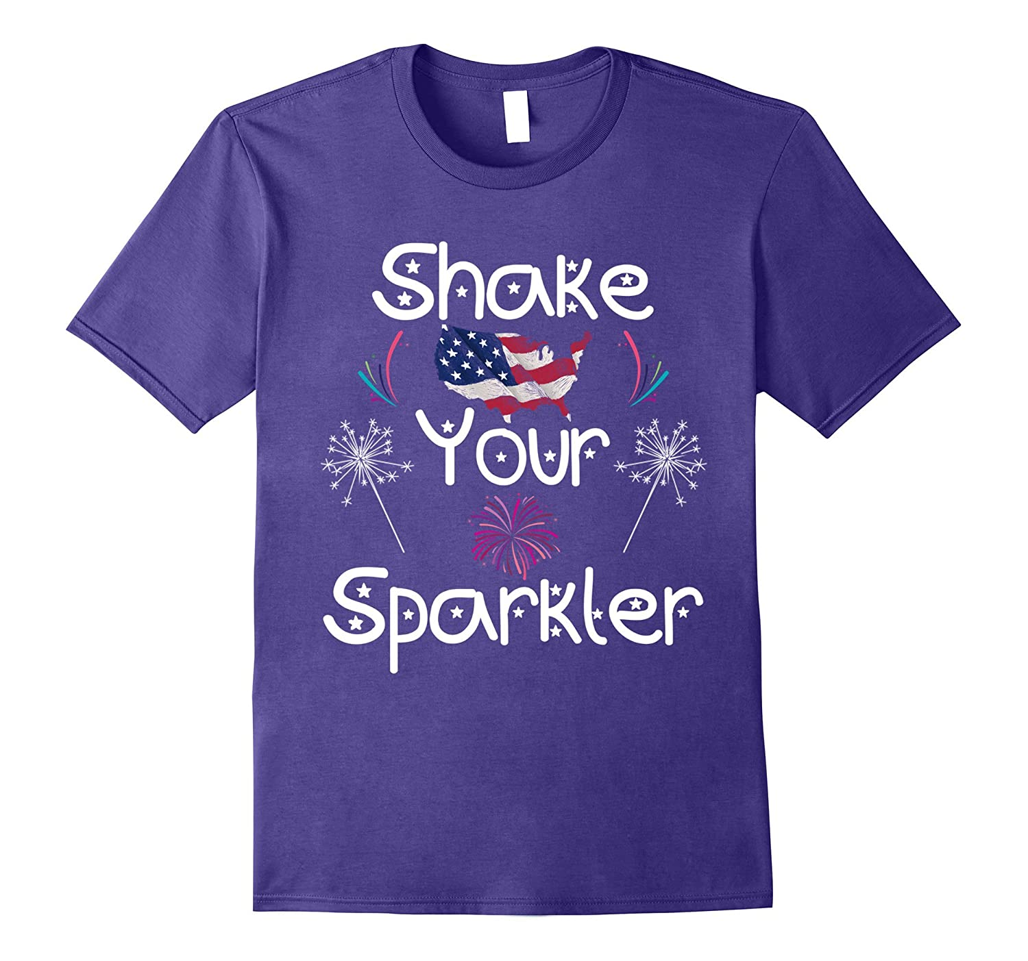 Awesome Tee For 4th Of July-Shake Your Sparkler T-shirt-Cute-PL