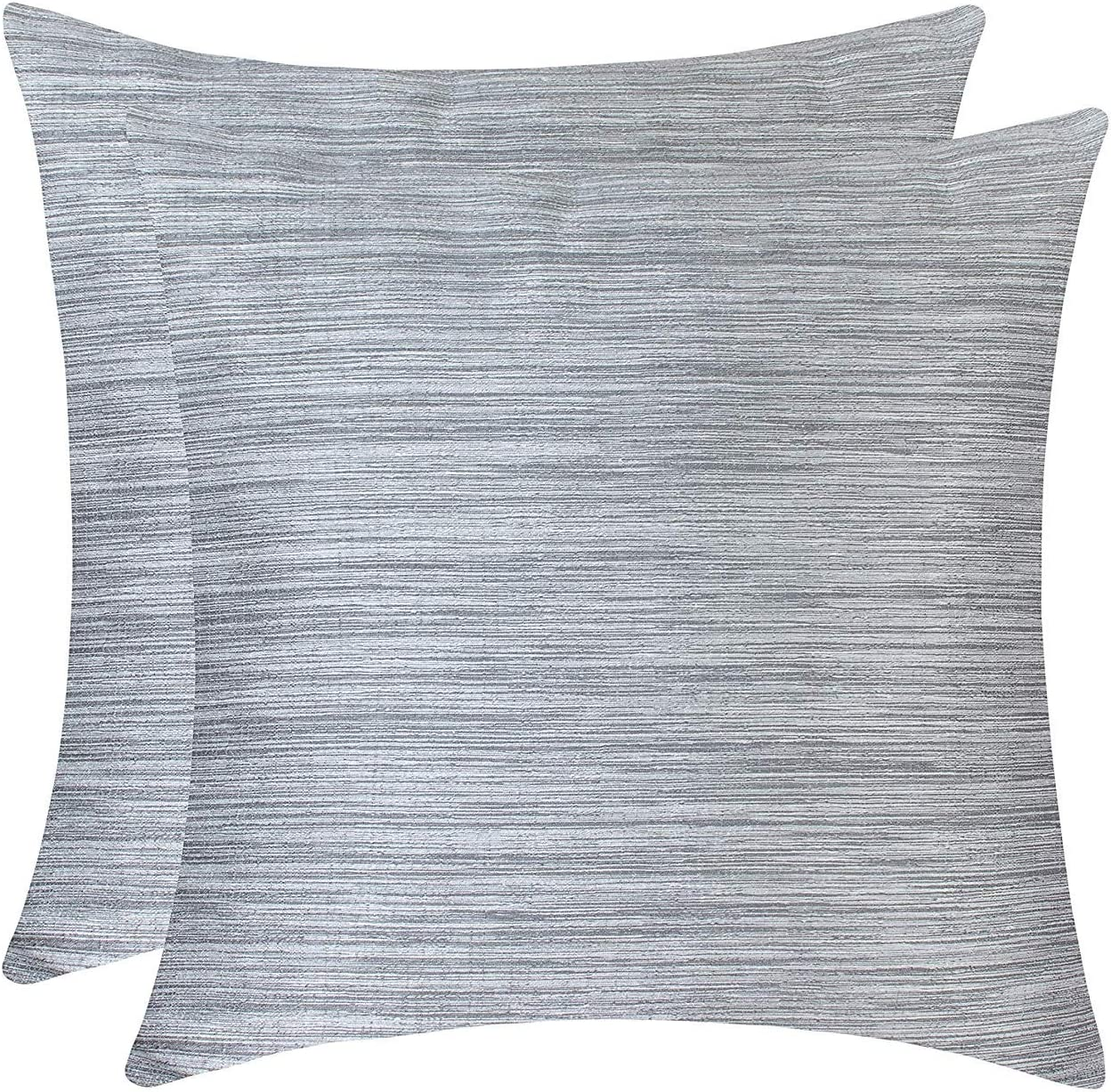 The White Petals Silver Gray Throw Pillow Covers for Sofa, Couch & Bed (16x16 inch, Pack of 2)