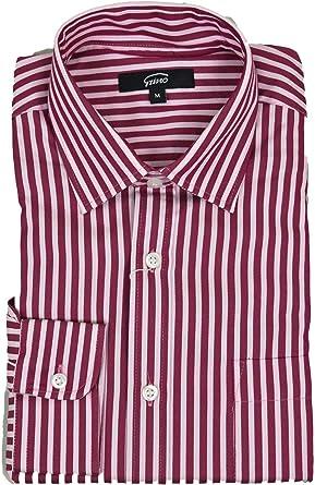 El Hombre De La Camisa Amplia Franja Roja De Cuello Blanco ...