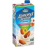 Blue Diamond Almonds Breeze Dairy Free Almondmilk, 32, Unsweetened Original, 384 Fl Oz (Pack of 12)