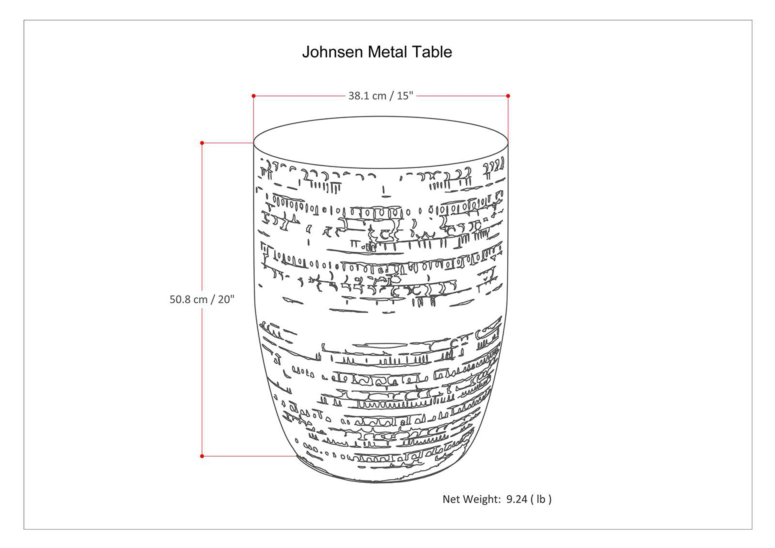 Simpli Home Johnsen Large Metal Accent Table, Antique Silver by Simpli Home (Image #6)