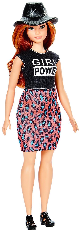 Barbie Fashionista Falda Estampado Felino (Mattel DYY94): Amazon.es: Juguetes y juegos
