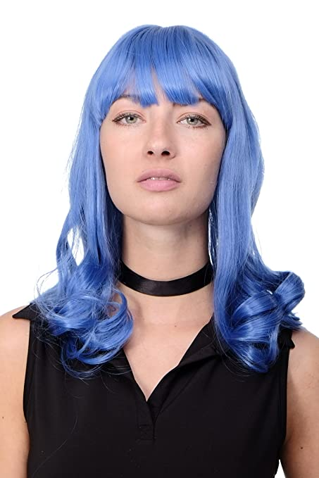 WIG ME UP ® - GFW1044A-T4043 Peluca calidad mujer Cosplay Emo Popstar Pin-