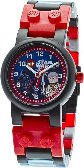 Lego Kids 9001192 Star Wars Darth Vader vs. Obi-Wan Kenobi Analog Japanese Quartz Multicolor Plastic Bracelet Watch with Two Minifigures
