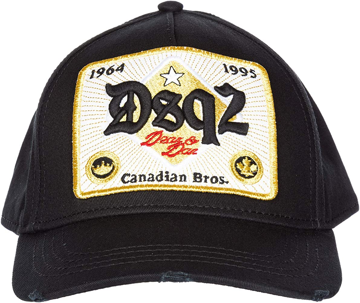 Dsquared2 sombrero en algodón ajustable hombre nuevo Canadian Bros ...