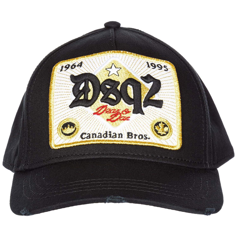 5664210058b Dsquared2 Men Canadian Brothers Baseball Cap Nero  Amazon.co.uk  Clothing