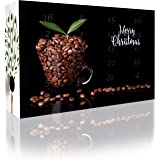 C&T Decaffeinated Coffee Advent Calendar 2018 with 2 x 12 Decaffeinated Coffees à 35 g for 1 l Each (Whole Beans) - Coffee Beans Without Caffeine - Christmas Calendar Adults - Cafe Gift Set